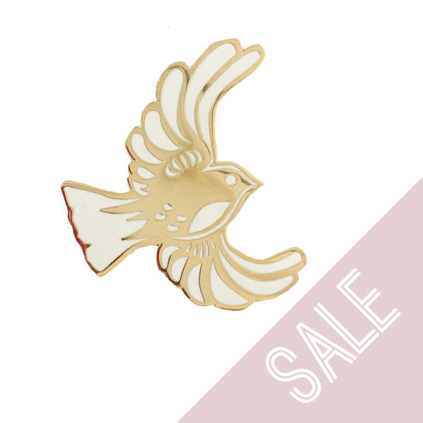 Bird Enamel Pin - Gold