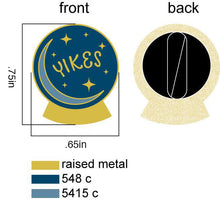 Yikes Crystal Ball - Enamel Pin
