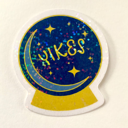 Yikes Crystal Ball - Glitter Vinyl Sticker
