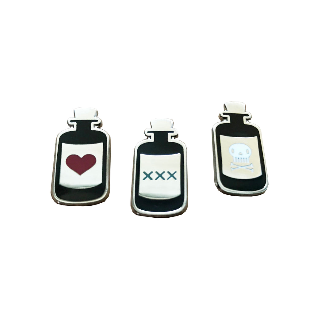 Pick Your Poison Pin Set - Silver
