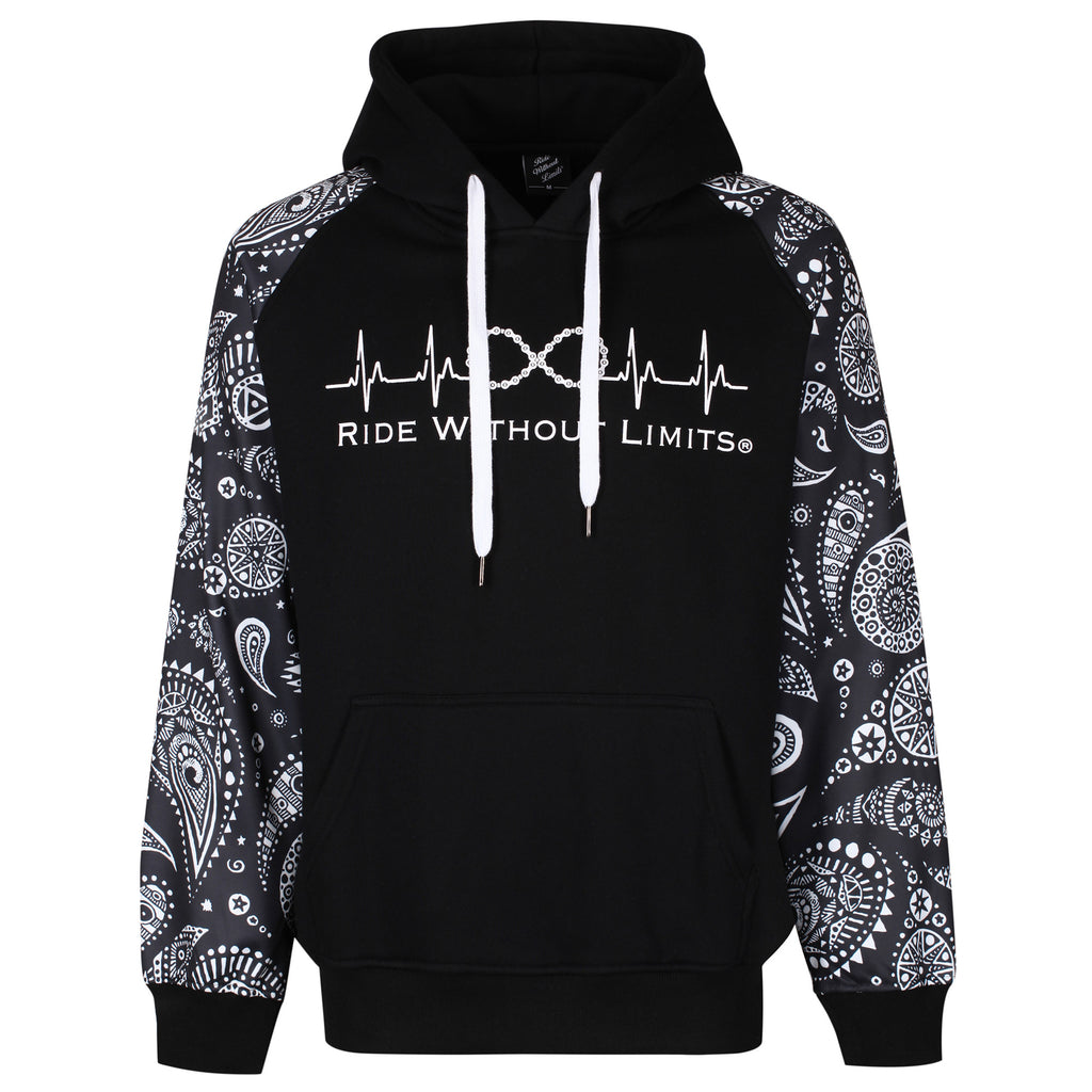 Ride Without Limits Signature Paisley Hoodie - Ride Without Limits