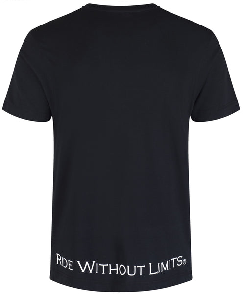 Ride Without Limits Emblem Tee - Black - Ride Without Limits