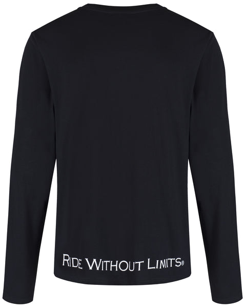 Ride Without Limits Emblem Long Sleeve Tee - Black - Ride Without Limits