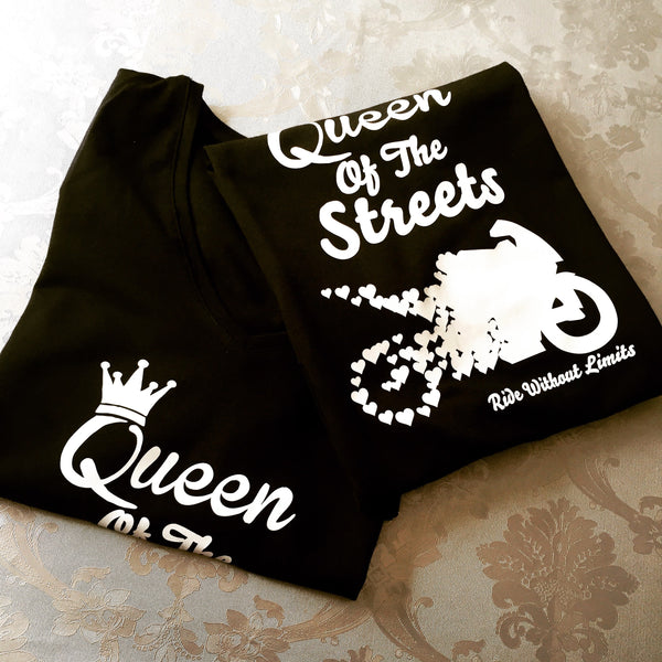Queen Of The Streets V Neck - Ride Without Limits