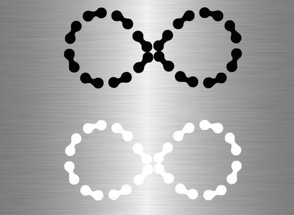 Patched Infinity Chain Vinyl Decal - Large - Ride Without Limits