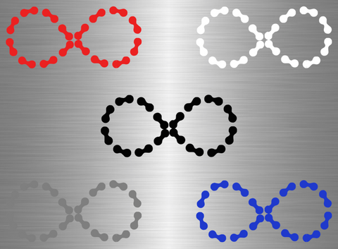 Patched Infinity Chain Vinyl Decal - Medium