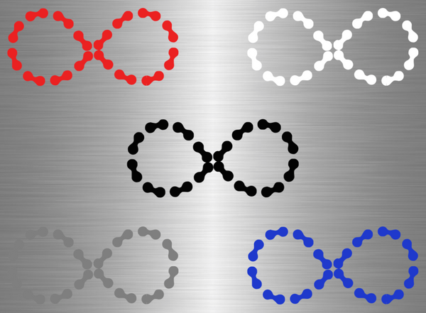Patched Infinity Chain Vinyl Decal - Medium - Ride Without Limits