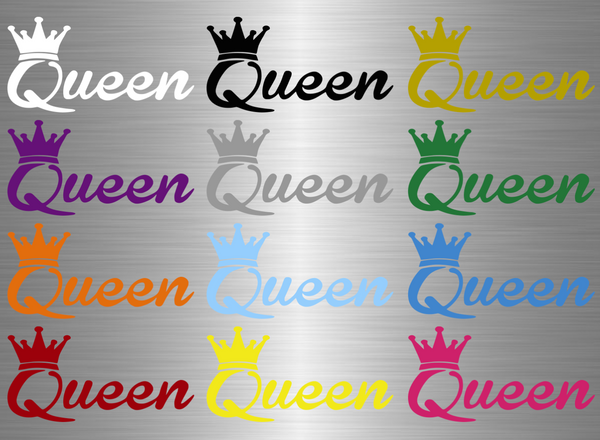 Queen Logo Vinyl Decal - Ride Without Limits