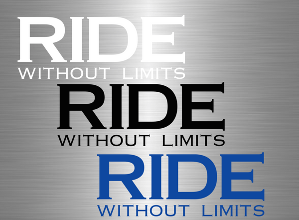RIDE Without Limits Vinyl Decal - Large - Ride Without Limits