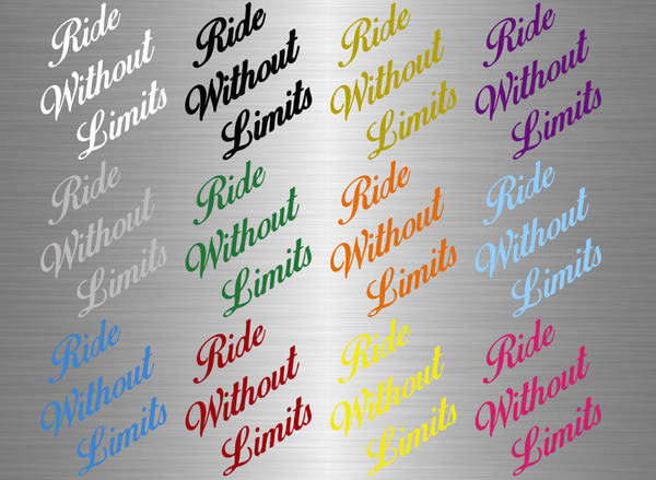 Ride Without Limits Signature Logo - Ride Without Limits