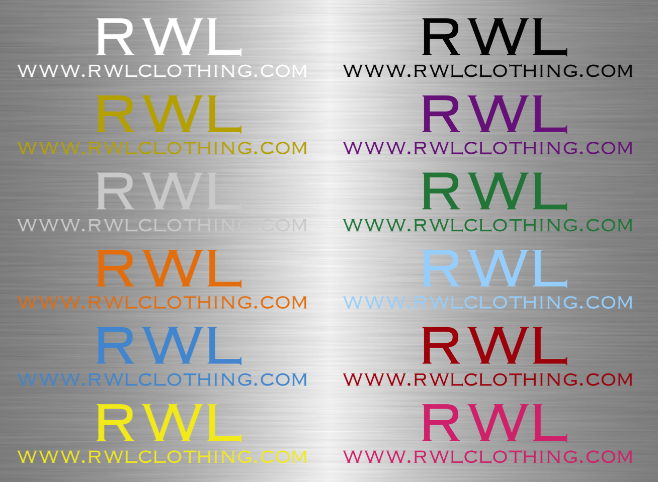 RWL URL Logo Vinyl Decal