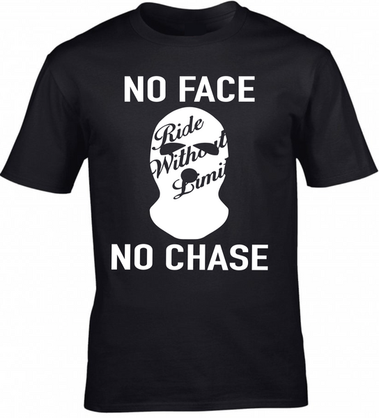 No Face No Chase Tee - Black