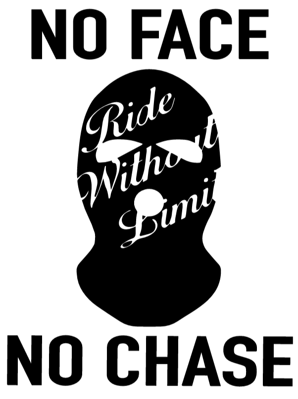 No Face No Chase Vinyl Decal