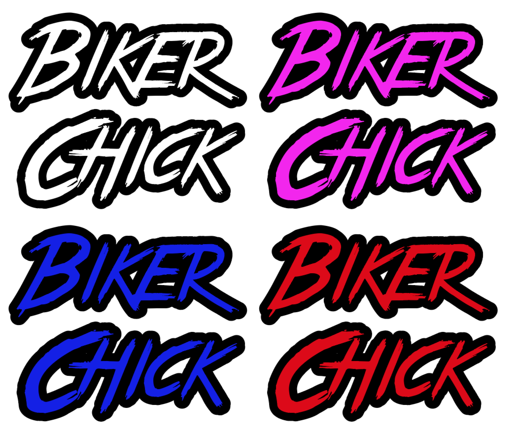 Biker Chick Vinyl Decal - Small