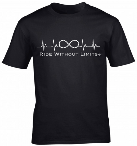 Ride Without Limits Filled Logo Tee - Black