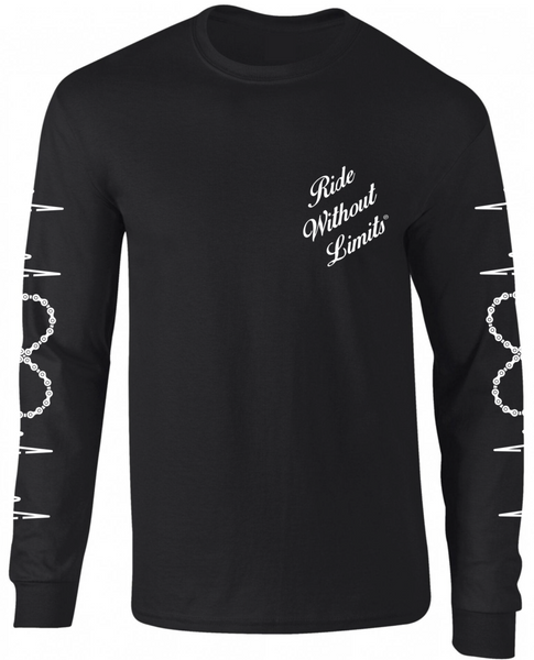 Ride Without Limits Signature Logo Long Sleeve Tee - Black