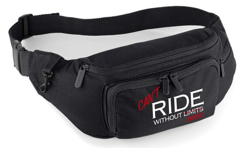 Can't Ride Without Snacks Waist Bag