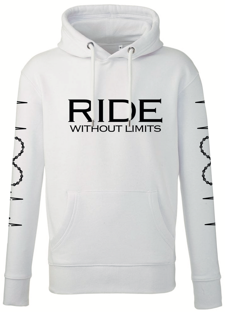 RIDE Without Limits Premium Hoodie W/Sleeves - White