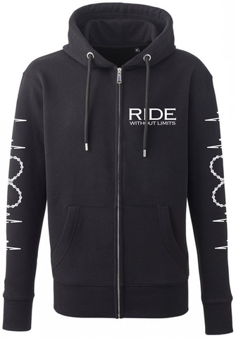 RIDE Without Limits Premium Zip-Up Hoodie W/Sleeves - Black