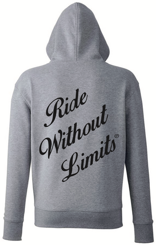Ride Without Limits Premium Stealth Hoodie - Grey