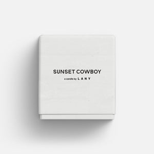 sunset cowboy candle