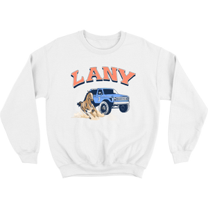 lany racing crewneck