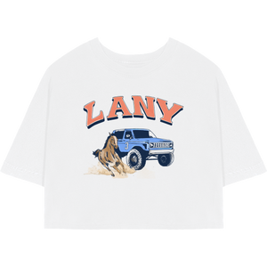 cropped LANY racing t-shirt
