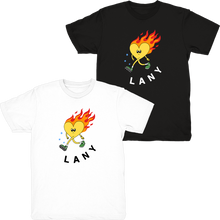 Load image into Gallery viewer, heart on fire t-shirt