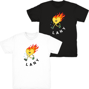 heart on fire t-shirt