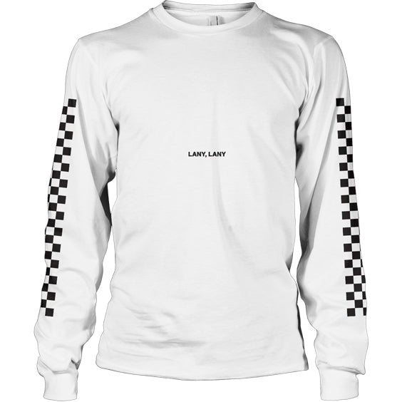Checkerboard L/S (White)
