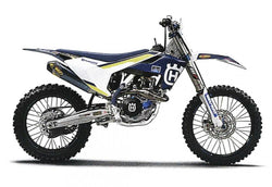 Husqvarna Factory Style Graphic Kit 16-18 FC 250 350 450 TC125 Decals