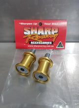 Swing arm spools 8mm Pick up stand Gold Suzuki GSXR Honda CBR 600RR 1000RR CNC