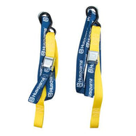 Husqvarna Tie Down Straps 38mm Snap Lock Blue / Yellow Motorcycle 300kg