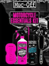 Muc-Off Motorcycle Essentials Kit Cleaner Protectant Care Wash Brush MX Moto