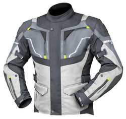 Dririder Nordic 4 Jacket - Grey / Black Leather & Textile Combo - Sport Touring