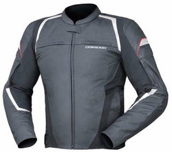 Dririder Rapid Jacket - Mens Leather Sports Black/White