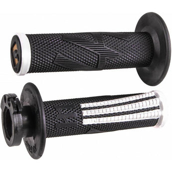 ODI V2 Lock On Grips MX Emig Pro Black White 2T/4T
