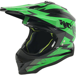 Nolan N-53 Comp Black Green 18 Adult Helmet Dirt MX Enduro