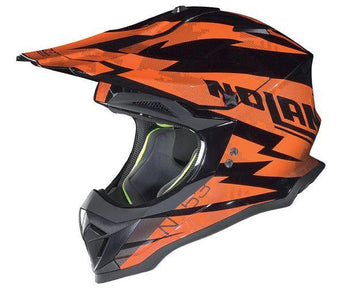 Nolan N-53 Comp Orange Black 6 Adult Helmet Dirt MX Enduro