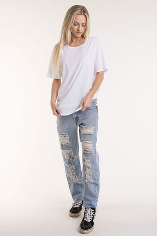 Women's Relaxed Fit Crew w/Binding - FACW1021