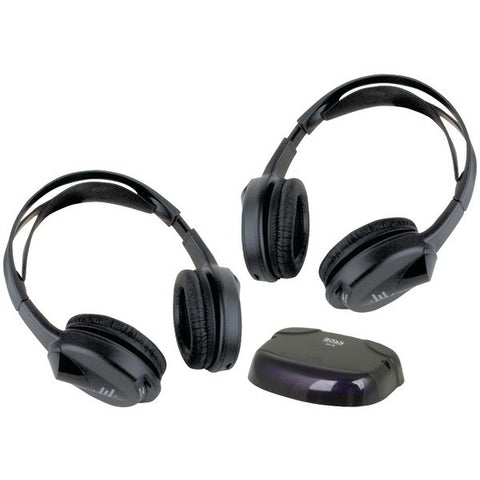 BOSS AUDIO HS-IR 2 Sets of Wireless Headphones with IR Transmitter