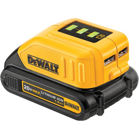 DEWALT DCB090 12-Volt/20-Volt USB Power Source