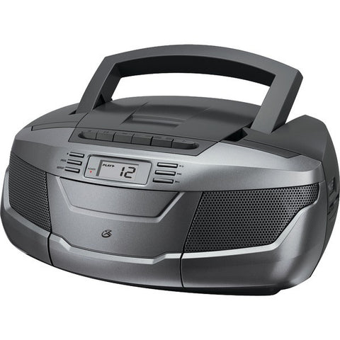 GPX BCA206S CD Boom Box with AM/FM Radio & Cassette Player