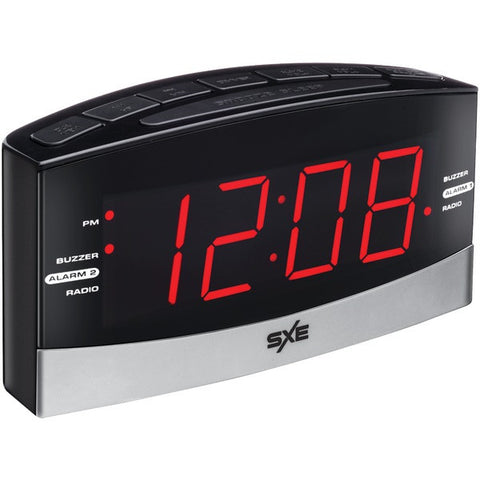 SXE SXE86007 Large Display AM/FM Dual Alarm Clock Radio