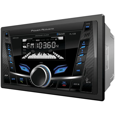 POWER ACOUSTIK PL-52B Double-DIN In-Dash Digital Audio Receiver with Bluetooth(R)