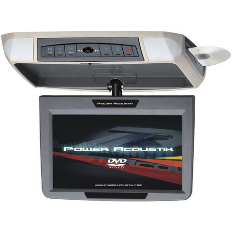 "POWER ACOUSTIK PMD-90 9"" Ceiling-Mount Swivel DVD Entertainment System with IR & FM Transmitters & 3 Interchangeable Skins"