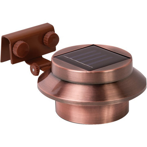 RETHINK 155015 Multipurpose Gutter/Fence Solar Light, 2 pk (Copper)