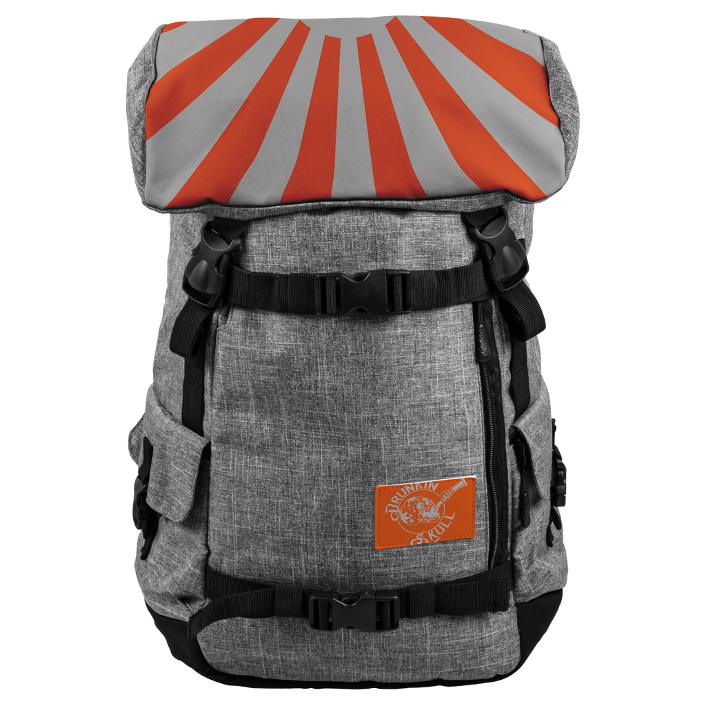 Drunkin Skull Rising Sun Out Lander Back Pack