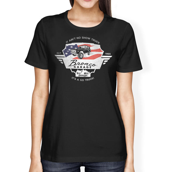Ford Early Bronco Garage Ladies Tee