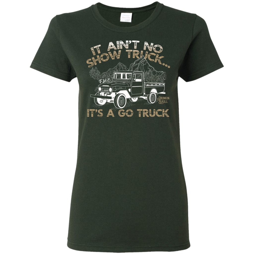 FJ45 Toyota Land Cruiser Go Truck Ladies Tee